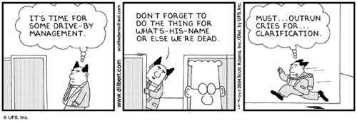 Dilbert - drive-by management