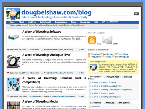 Old blog theme - 'Digital Statement'