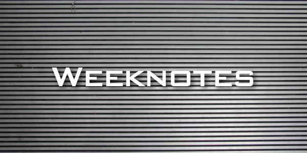 Weeknote 32/2013